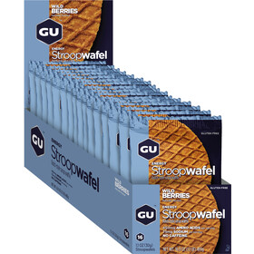 GU Energy Stroop Wafel Box Glutenvrij 16x32g, Wild Berries